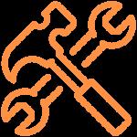 icône réparation et nettoyage
